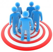 Target market group image.