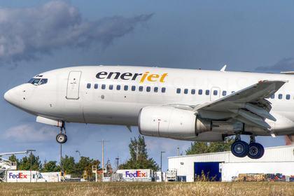 This Enerjet 737 was involved in an overrun at Fort Nelson in January of 2012