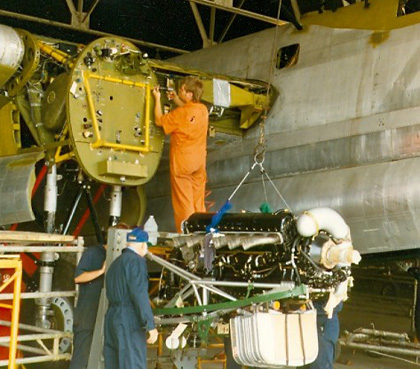 It's engine overhaul time for Canadian Warplane Heritage Museum's Lancaster