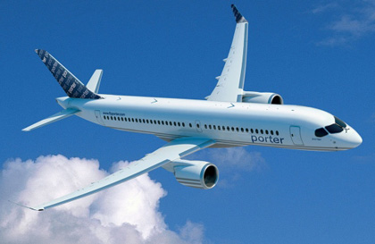 Porter Airlines is hoping to fly Bombardier CSeries jets from Billy Bishop Airport.
